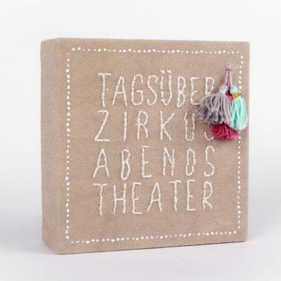 Mini Leinwand von Good old Friends - Zirkus und Theater