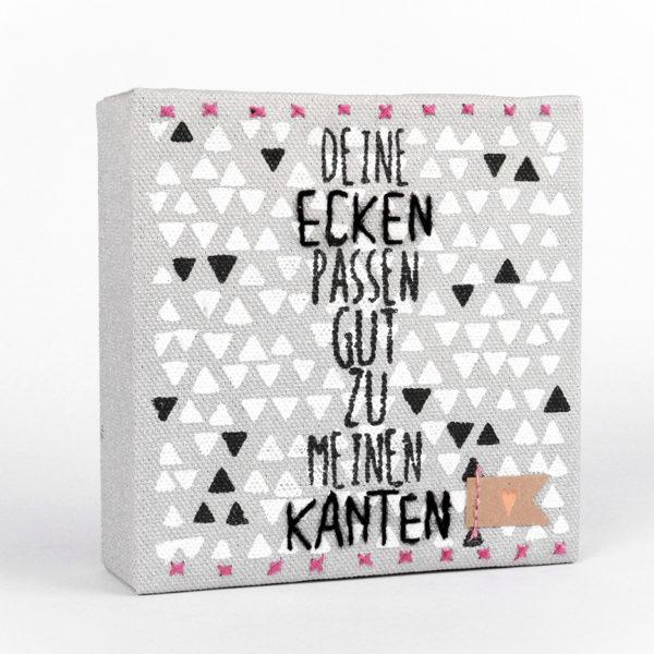 Mini Leinwand von Good old Friends - Ecken und Kanten