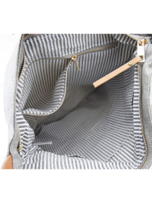 LIEBLINGE Handtasche OH LA LA Rucksack Räder 13361 - Detail Reissverschlß innen