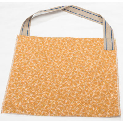 David Fussenegger Tasche Nova Geflecht 60 x 50 cm groß goldgelb