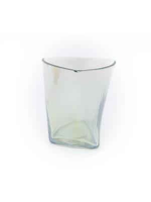 Windlicht aus Glas mint / gold