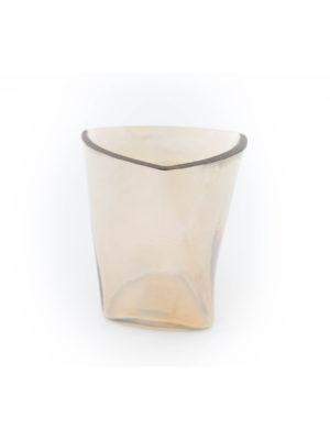 Windlicht aus Glas gold / gold