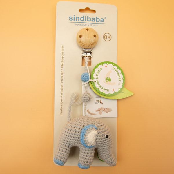 Sindibaba Kinderwagen Clip Elefant -1