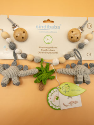 Sindibaba Kinderwagenkette Dino gesamt