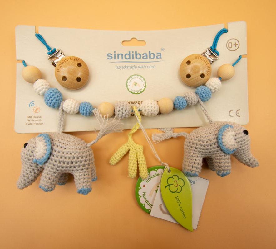 Sindibaba Kinderwagenkette Elefanten -1Sindibaba Kinderwagenkette Elefanten -1