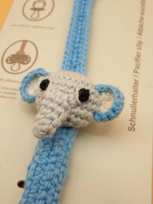 Sindibaba Schnuller Kette Elefant Detail